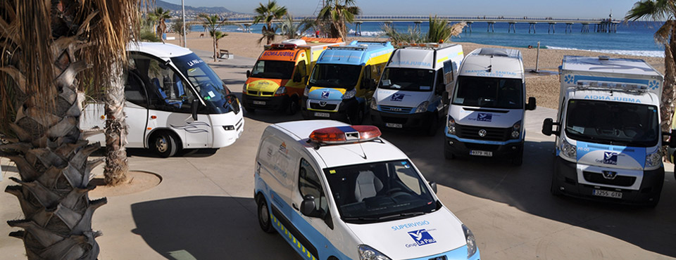 Prestamos servicios de transporte sanitario urgente, no urgente y adaptado