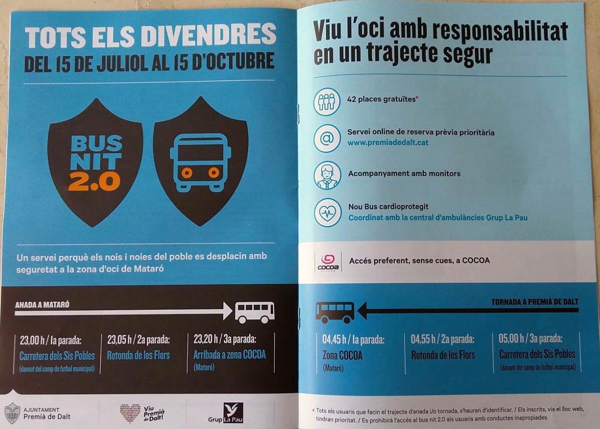 Grup La Pau aspira a minimitzar els accidents de trànsit amb el servei Nit Bus